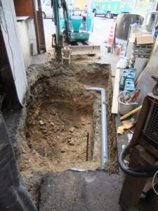 イカ水槽濾過槽工事