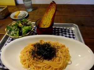本日は、明太子パスタ、美味しかったですよ!