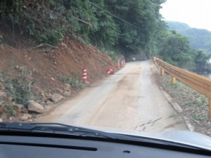 青浦付近土砂崩れ