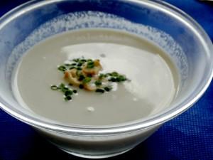 はんだ牛蒡のスープ・冷製