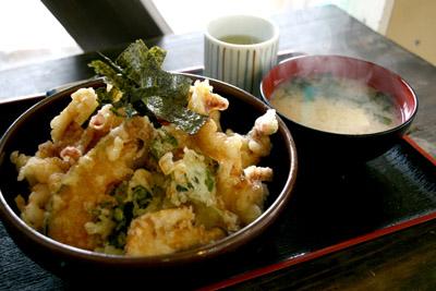 須佐の漁師のイカ天丼