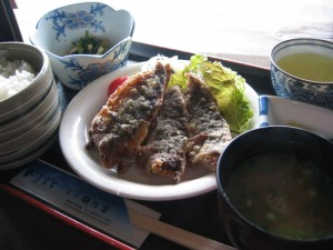 アジの竜田揚げ定食